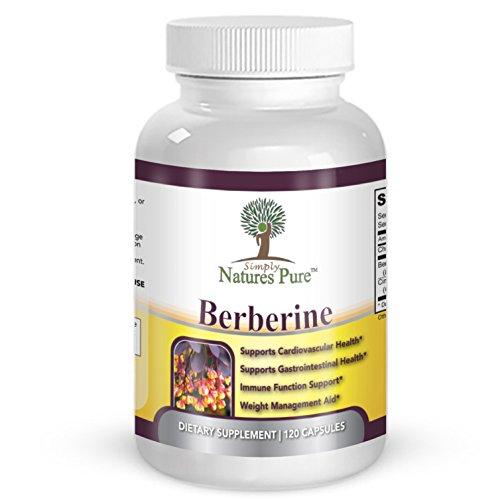 Premium Berberine HCl 500mg - 120 capsules - cardiovascular gastrointestinal immune weight loss support- Chromium Cinnamon