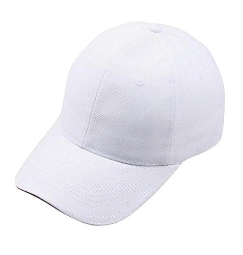 ZEZKT-Zubehör❤️Einfarbig Einfach Baseball Cap Hut Unisex Damen Herren Trucker Kappe Mesh Baseball Cap Snapback Schwarz Baseball Cap Snapback Hut (Weiß)