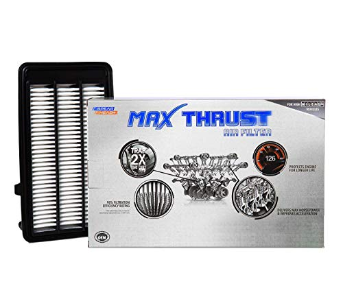 Spearhead Max Thrust Performance Engine Air Filter For All Mileage Vehicles - Increases Power & Improves Acceleration (MT-050)