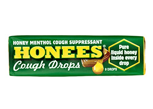 Ambrosoli Honees Menthol Eucalyptus Cough Drops, 9-Drop Bars (Pack of...