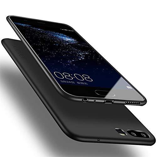 X-level Huawei P10 Hülle, [Guardian Serie] Soft Flex TPU Hülle Superdünn Handyhüllen Silikon Bumper Cover Schutz Tasche Schale Schutzhülle für Huawei P10 Silikonhülle Dünn - Schwarz