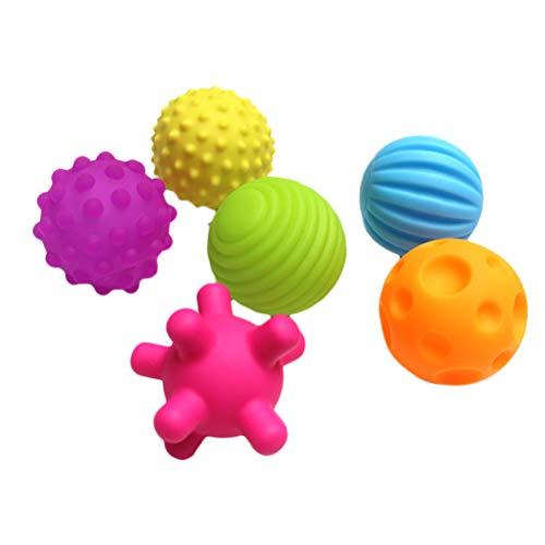 Holmeey Bebé Sensory Juguetes Texturizado Multi Ball Set Colorido suave mejor texturizado multi-juguete conjunto táctil sensorial juguetes para niños