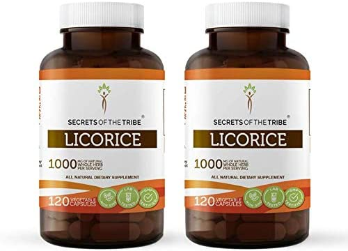 Licorice 120 Ranking TOP4 Capsules 2 Max 85% OFF pcs. 1000 Organic mg Glycyr