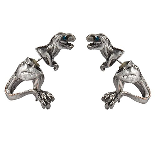 Tabwing Dinosaur Animal Earrings Womens (Ancient Silver Tone)