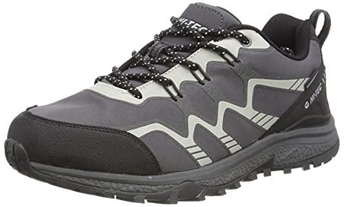 Hi-Tec Men's Stinger WP Walking Shoe, Charcoal/Black/Silver, 11 UK