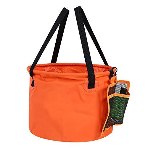Dibiao Seau à eau pliable multifonction de 30 l avec sac de vidange pour camping, pêche, pique-nique, lavage de voiture