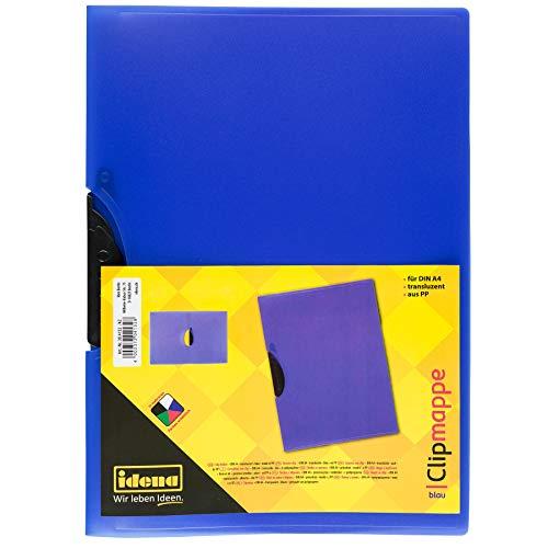 Preisvergleich Produktbild Idena 304132 - Clip Mappe für DIN A4,  aus Polypropylen,  transluzent blau