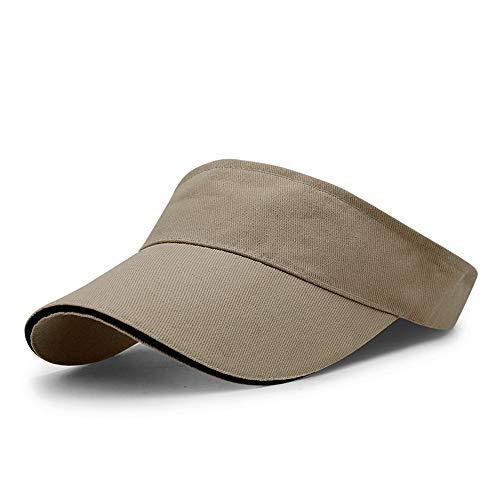 LiGG Unisex Visor Cap Sonnenhut Einstellbar Sommerhut mit Klettverschluss für Damen und Herren (Khaki, Einheitsgröße)