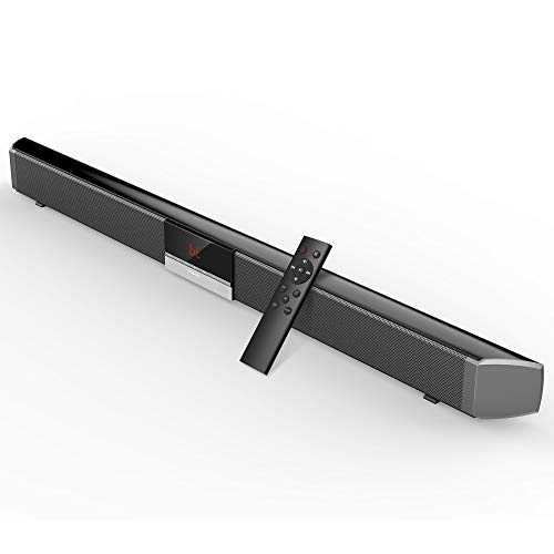 Soundbar, Visoud 34-inches Sound Bar for TV, Wired and Wireless Bluetooth Audio Speakers(Home Theater Surround Sound, Remote Control, Support Optical/AUX/Coaxial/USB/BT Connection)