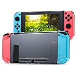 Tasikar Funda Compatible con Nintendo Switch Separables Funda Cristal Transparente Compatible con Nintendo Switch Console y Joy-con Controllers (Transparente)