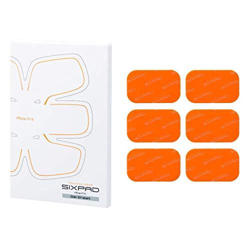SIXPAD Abs Fit Gel Sheets Equipo de Entrenamiento, Unisex Adulto, Naranja, Talla Única