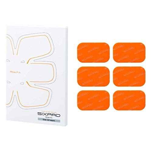 SixPad Abs Fit Gel Sheets EMS Ausbildung, Orange, One Size