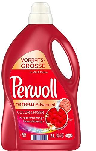 Perwoll renew Advanced Color & Faser Feinwaschmittel, 80 (2 x 40 ) Waschladungen, für farbige Textilien