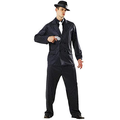 Gin Mill Gangster Halloween Costume for Men | Criminal Cosplay & Dress Up (XX-Large) Black