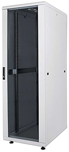 kab24® Netzwerkschrank Serverschrank Wandhehäuse Netzwerk Wandschrank Wandverteiler SOHO Schrank grau 19 Zoll 42 HE H:205,7 x B:80 x T:80cm