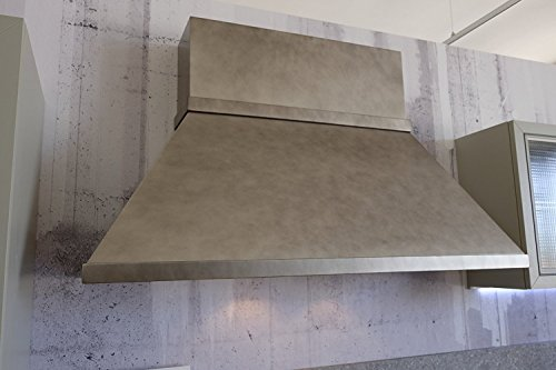 Dunstabzugshaube Werkstatt Industrial Design Kamin eckig Effekt Metall 120150180 cm_120