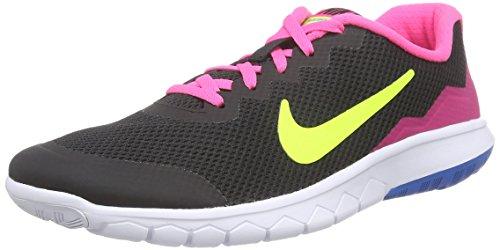Nike Unisex-Kinder Flex Experience 4 (GS) Laufschuhe, Schwarz (Black/Volt-Pink Pow-White 007), 38 EU
