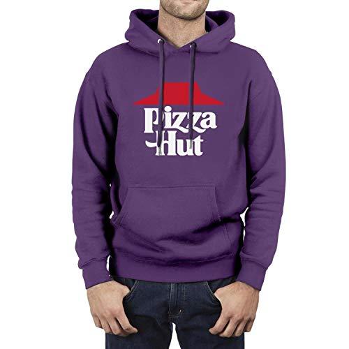 Heart Wolf Pizza-Hut-Logo- Sweatshirts for Men Comfort Shirt Sweatshirt Long Sleeve Tops