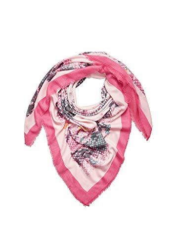 s.Oliver Damen 39.908.91.5185 Trilby, Rosa (Purple/Pink Placed Print 42d1), One Size (Herstellergröße: 1)