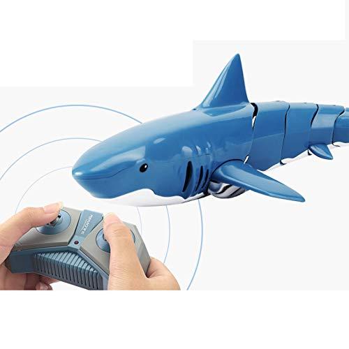WANXJM Ferngesteuertes Hai-Bootsspielzeug, 2.4G RC-Bootssimulation Hai-Spielzeug Schwimmbadspielzeug, Entwicklung der visuellen Intelligenz, für Kindergeschenk