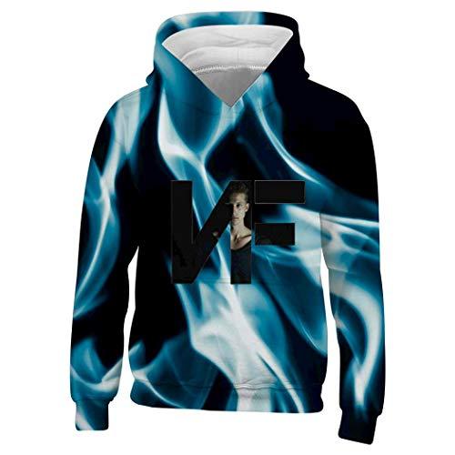 552 Youth N-F-Real-Music Playz Gamer Flame 3D Print Hoodie Sweatshirts for Kids White