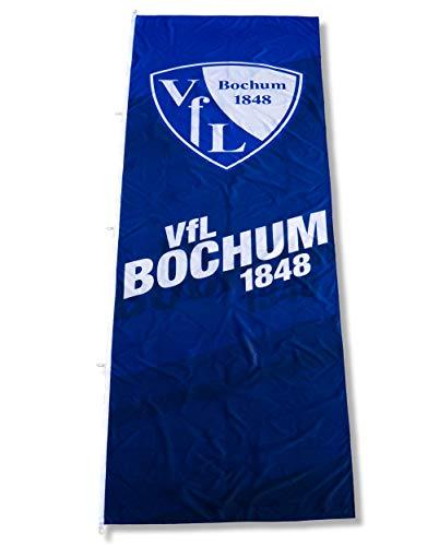 VFL Bochum 1848 Hissfahne Fahne Flagge - 120x400cm - Hochformat - mit Karabiner - Original Lizenzprodukt