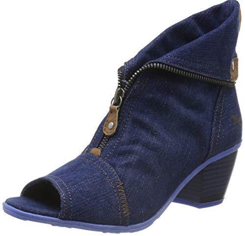 MUSTANG Damen 1221-901-841 Peeptoe Sandalen, Blau (Jeansblau 841), 39 EU