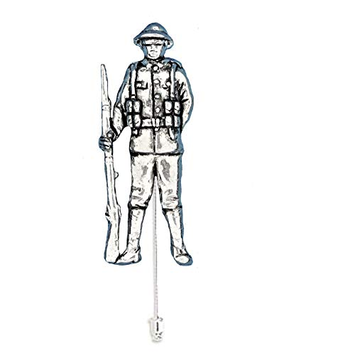 WW1 Tommy pp-h17 1,4 x 3,6 cm fino peltre inglés adorno en un lazo pin sombrero bufanda collar abrigo