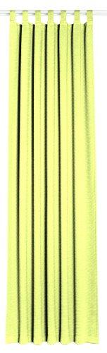 Horn textiel titanium 1/21 lusgordijn met 7 lussen en universele band groen (breedte: 135 cm, hoogte: 245 cm)