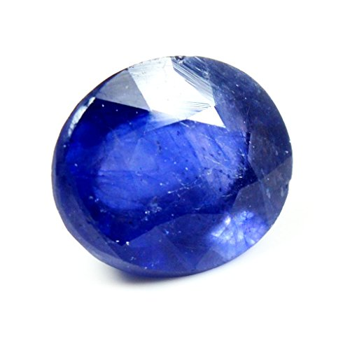 Jewelryonclick, pietra zaffiro blu, 3 carati, pietra naturale originale sfusa