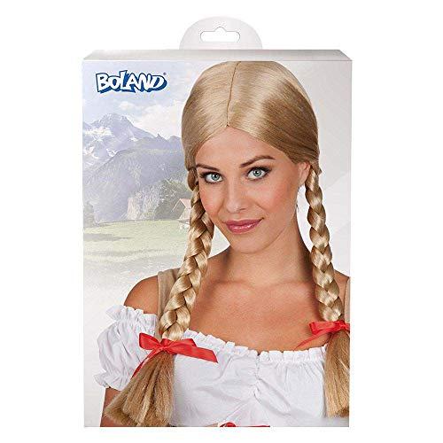 Boland 72048 Heidi peluca rubia con trenzas