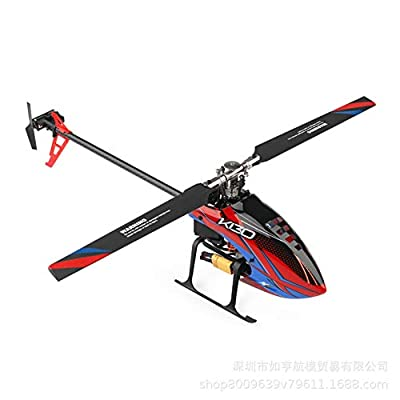 GRTVF RC Red Helicopter, 6-Channel Remote Control Aircraft, Gyroscope, Mini Helicopter Remote Control The Best Outdoor Helicopter Toy Gift for Adults Outdoors from GRTVF