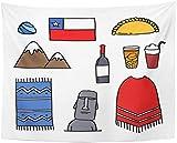 AdoDecor Tapiz América Doodle Chile Chile Bebida del país...
