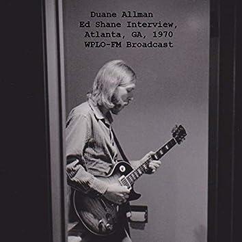 Ed Shane Interview, Atlanta, GA, 1970 WPLO-FM Broadcast