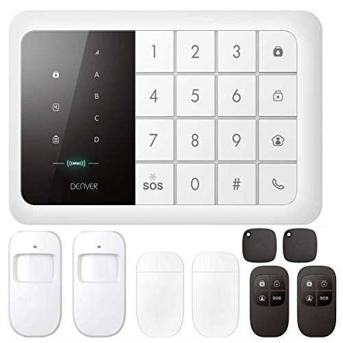 Denver HSA-120 Touch GSM Funk Alarmanlage Bewegungsmelder Fernbedienung Fenster - frustfreie Bedienung