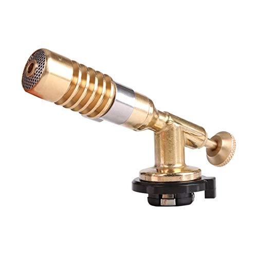 Gu3Je Calefacción Soldadura Ajustable Antorcha de Gas Antorcha Llama Pistola BBQ BLAMETORCH Cobre Llama Butano Encendedor para Camping Al Aire Libre Pistola de Espinja Barbacoa para Bricolaje C