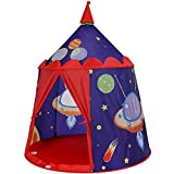 SONGMICS Play Tent for Toddler, Boys, Kids Tent Indoor, Portable Pop Up Play Teepee with Carry Bag, Indoor and Outdoor,Gift for Kids, Blue ULPT01BU