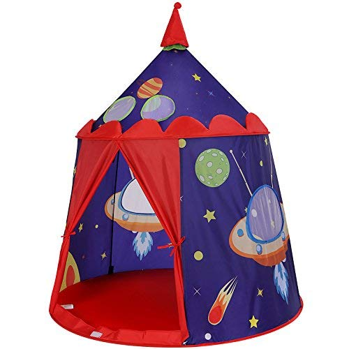 SONGMICS Kids Play Tent, Pop up Tent for Todders, Indoor and Outdoor, Blue ULPT01BU