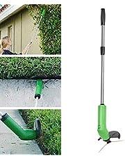 chinejaper Accu-grastrimmer, draagbare snoerloze grassnijder incl. veiligheidsbescherming spuiten van onkruid worden voorkomen, tuindecoratie gereedschap voor thuis