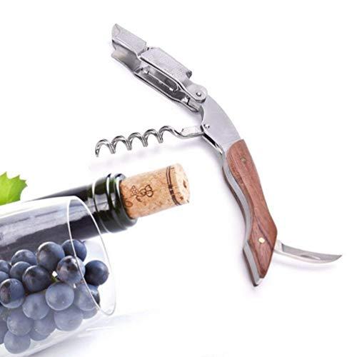 Ducomi® Sommelier - Tire-Bouchon Ouvre-Bouteille pour Vin en Acier (Garantie à Vie), Tire-Bouchon de Sommelier Dessin Professionnelle - Facile à Utiliser pour Vins et Bières (Art Deco)