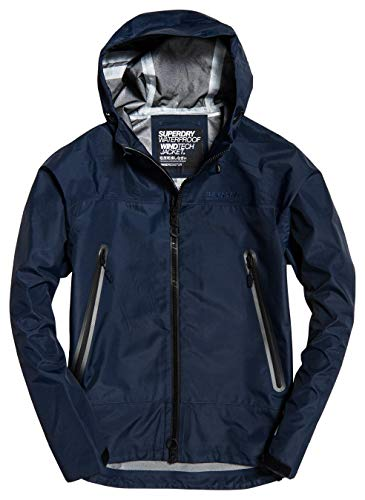 Superdry Herren HYDROTECH Waterproof Jacket Jacke, Navy, Large