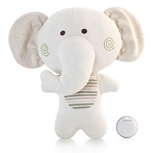 Miniland 89146 Baby Peluche bemybuddy, beige/weiß
