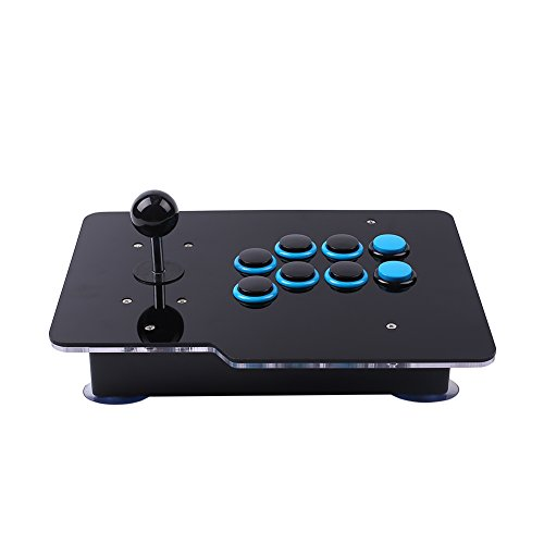 Cewaal Zero Delay USB Arcade Game Video Game 8 Instrucciones Stick Joystick Controller para PC Android