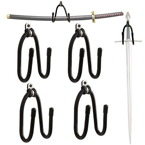 Kesywale verstellbare Schwert-Wandhalterung für Schwerter, Dolch, Axt, Schlüsselblatt und mehr, 4 Stück