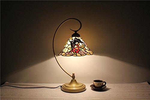 TOYM-10 pulgadas luces de jardín juego mariposa de la flor se casan Tiffany Luces de la celebración de la lámpara vidrieras obra de arte hecha a mano