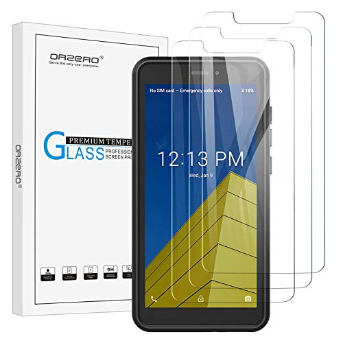 (3 Pack) Orzero Compatible for Cricket Icon Smartphone Tempered Glass Screen Protector, 9 Hardness HD Anti-Scratch Bubble-Free (Lifetime Replacement)