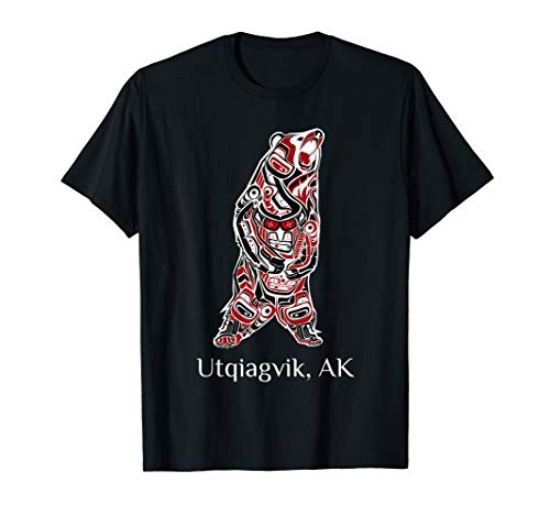 Utqiagvik, Alaska Native American Indian Grizzly Brown Bear T-Shirt
