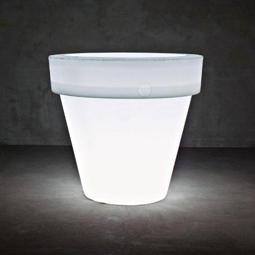 Vas Serralunga Two lampada/vaso L, neutro ØxH 160 x 150 cm in plastica