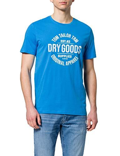 Tom Tailor 1026193 Print Camiseta, Bright Ibiza Blue 26178-Juego de Mesa, XXL...