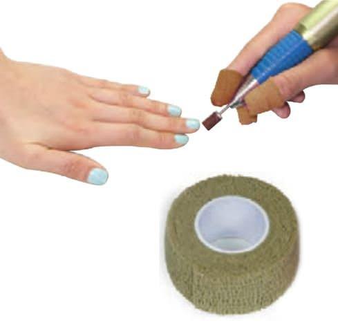 crepe protege doigt manucure beige 2,5cm x 4.5m p